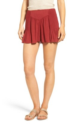 Women's Sun & Shadow Smocked Shorts $39 thestylecure.com