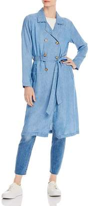 BILLY T Chambray Trench Coat