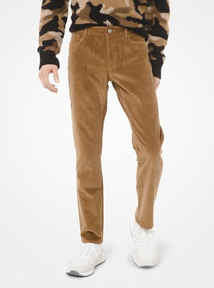 Michael Kors Slim-Fit Stretch Corduroy Pants