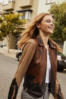 Urban Outfitters Leather Colorblock Jacket