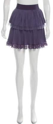 Philosophy di Alberta Ferretti Lace-Trim Mini Skirt
