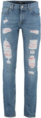 Alexander McQueen Slim-fit Destroyed Jeans