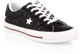 Converse Chiara Ferragni One Star Glitter Leather Sneakers