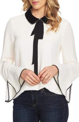 CeCe Collar Neck Tie Blouse