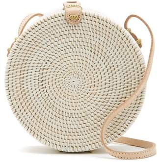 Pink Haley Jones Vacay Round Straw Crossbody Bag