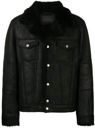 Diesel Black Gold shearling leather jacket