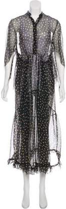 Petar Petrov Polka Dot Sheer Dress