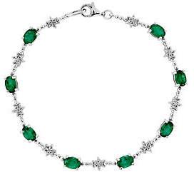 QVC Sterling Semi-Precious Gemstone & Beaded Bracelet