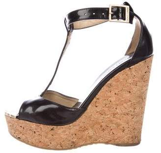 Jimmy Choo Patent Leather d'Orsay Wedges