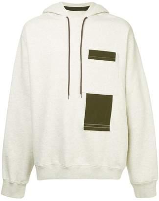 Oamc contrast details hoodie