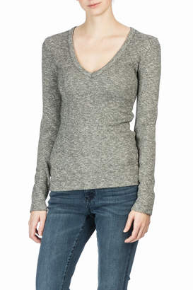 Lilla P Long Sleeve V-Neck Top