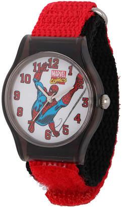 Marvel Spider-Man Kids Red and Black Nylon Strap Watch