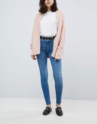 Pieces Mid Rise Skinny Jean in blue