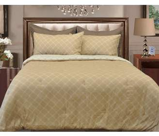 Natural Comfort Microfiber Reversible Comforter Set, King/Arizona Sand