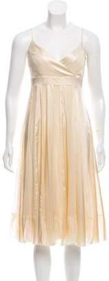 Diane von Furstenberg Striped Silk Dress w/ Tags
