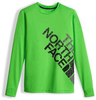 The North Face Boys' Long-Sleeve Logo Reaxion Tee, Green, Size XXS-XL