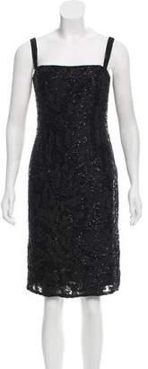 Bill Blass Embellished Cocktail Dress