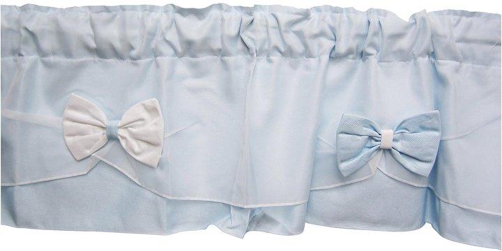 Baby Doll Bedding Regal Pique Window Valance - Blue