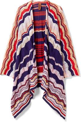 Missoni Crochet-knit Cotton-blend Wrap - Red