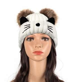3c6a8feb75d La Dearchuu Womens Beanie Knit Hats Slouch Winter Beanie Warm Skully Skiing  Hat