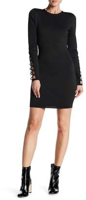Wow Couture Lace-Up Sleeve Bandage Dress