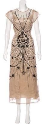 Vineet Bahl Embellished Maxi Dress