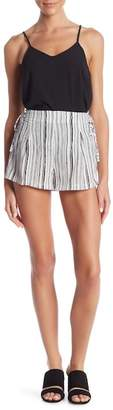 Romeo & Juliet Couture Stripe Print Shorts