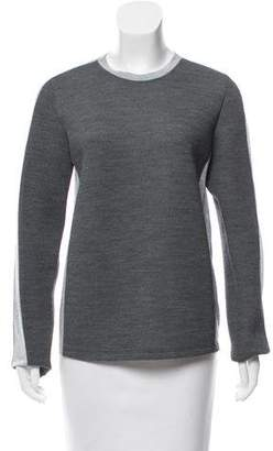 Reed Krakoff Jersey-Trimmed Knit Top