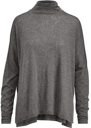 Polo Ralph Lauren Boxy Jersey Turtleneck Shirt $145 thestylecure.com
