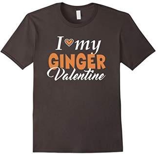 I LOVE MY GINGER VALENTINE Heart Red Hair Love T Shirt