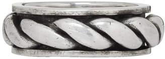 Saint Laurent Silver Rope Ring