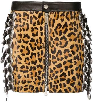 DSQUARED2 leopard-print fitted skirt