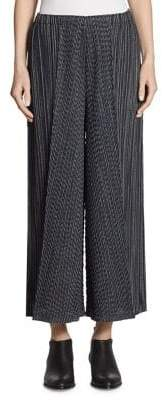 Pleats Please Issey Miyake Pleated Striped Pants