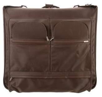 Tumi Leather-Trimmed Nylon Suitcase