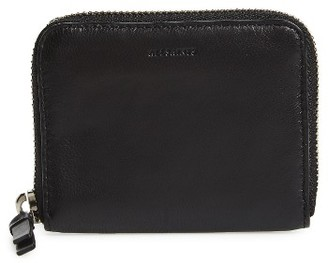 Women's Allsaints Kanda Mini Zip Wallet - Black $88 thestylecure.com