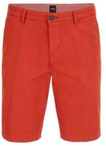 BOSS Hugo Cotton Gabardine Short, Regular Fit Crigan Short D 28R Dark Orange