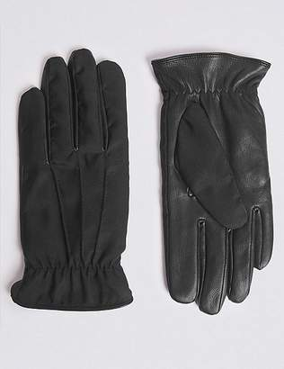 Marks and Spencer Fabric & Leather Mix Gloves