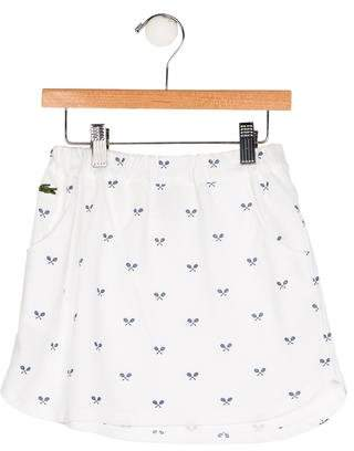 Lacoste Girls' Printed Knit Skirt