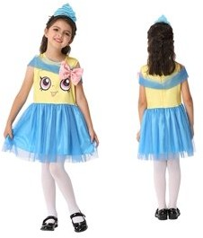 ZUK Costumes Girl's Cupcake Sweet Bakery Goods Character Dress Ups Costume 2 Piece Set
