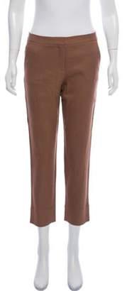 Diane von Furstenberg Mid-Rise Georgia Pants Brown Mid-Rise Georgia Pants