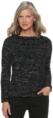 Croft & Barrow Petite Chenille Boatneck Sweater
