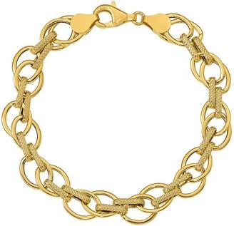 Italian Gold Oval Link Bracelet 14K, 4.2g