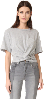 T by Alexander Wang Front Twist Tee $150 thestylecure.com