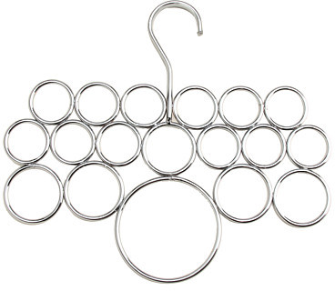 InterDesign Axis Chrome Scarf Holder