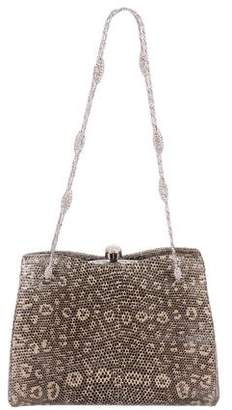 Judith Leiber Embellished Lizard Shoulder Bag