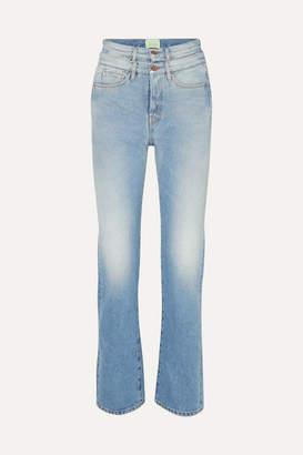 Aries Lilly High-rise Straight-leg Jeans - Light denim