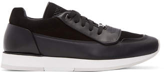 Jimmy Choo Black Leather Jett Sport Sneakers