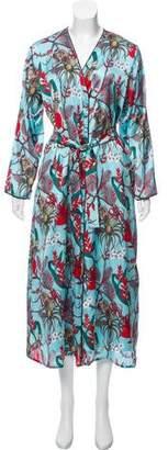 LoboRosa Multicolor Long Sleeve Robe