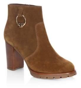 Tory Burch Sofia Lug Sole Leather Mid-heel Booties