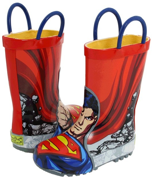 Western Chief Superman Rainboot (Infant/Toddler/Youth) (Superman) - Footwear